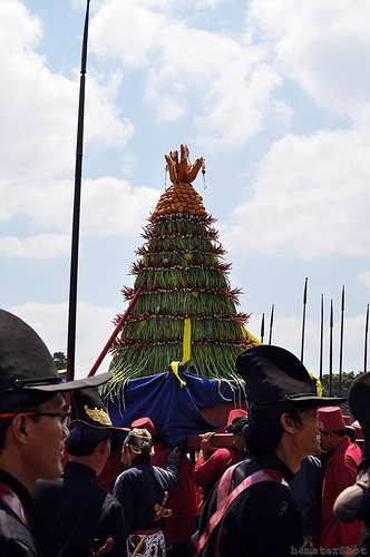 Grebeg Syawal Ceremony in Yogyakarta, Indonesia.