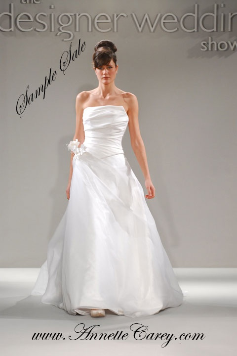 To make for you from £2,600.  Sample sale dresses tried on in design salon available in size 10 - 12 for £450 each.