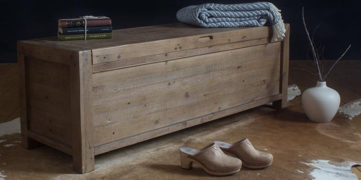 Handcrafted Wooden Storage for the home. Cotswold Reclaimed Wood Blanket Box made using FSC Certified Wood. Solid Wooden Blanket Box with Free UK Delivery!