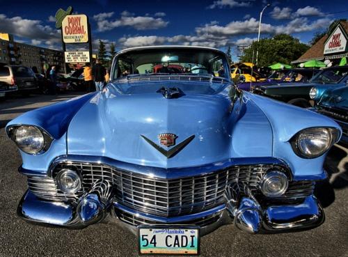1954 Cadi. Gotta say, looks like one angry car.
