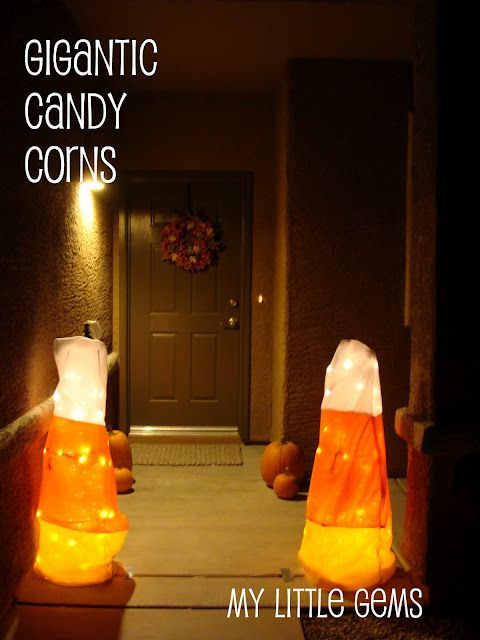 Diy Gigantic Candy Corn Decor Made With Fleece Fabric