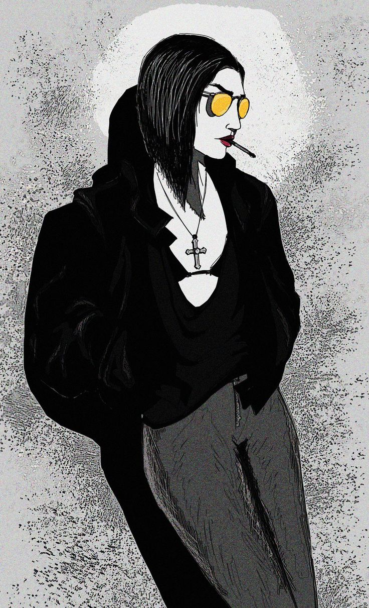 Gothic, grungy vampire illustration. Illustrations, Edgar Moody on ArtStation at https://www.artstation.com/artwork/YqbQP