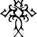 White cross tattoo