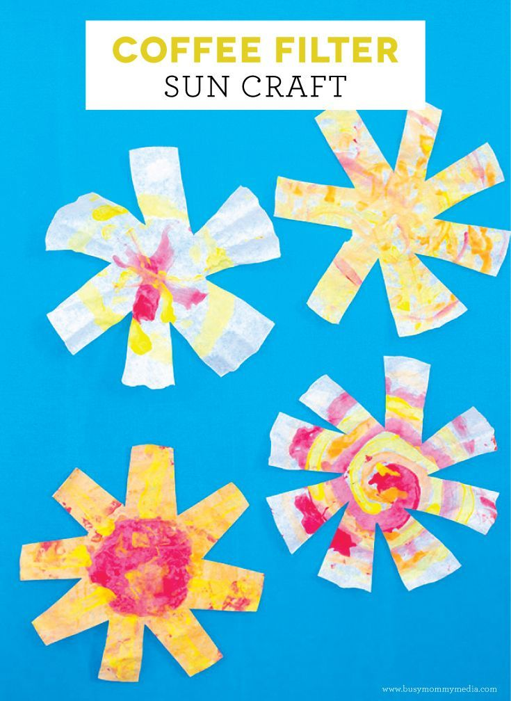 Coffee Filter Sun Craft | This is such a fun kids craft for summer! Open-ended art projects for kids are the best!