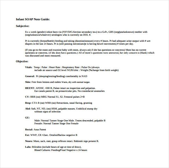 Soap Note Template 9 Free Word Pdf Format Download Soap
