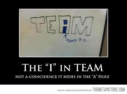 The 'i' in team…
