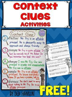 This context clues anchor chart is a staple in my classroom!  A FREE context clues exit ticket is also included in this blog post!