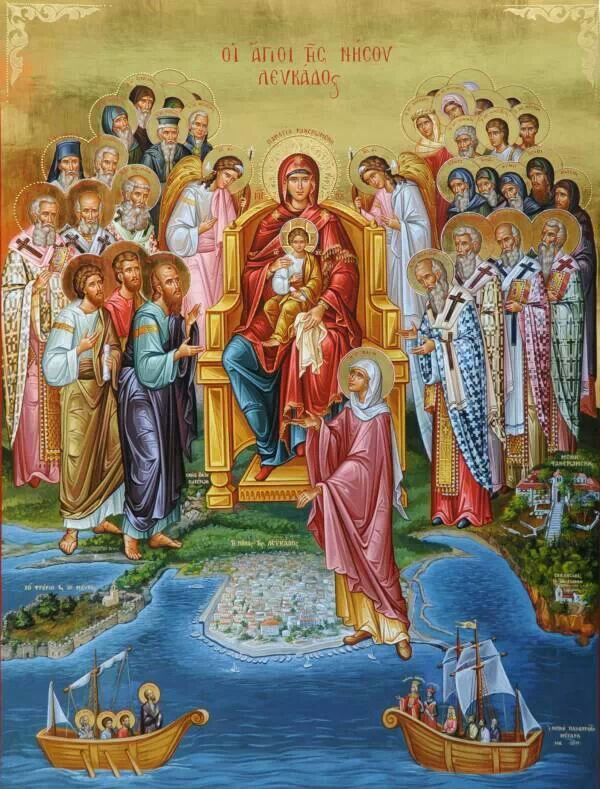 Theotokos and Saints of the island Lefkada