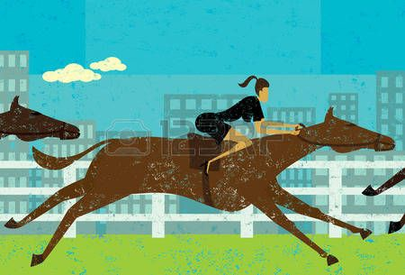 Horse Races Stock Vector Illustration And Royalty Free Horse Races ...