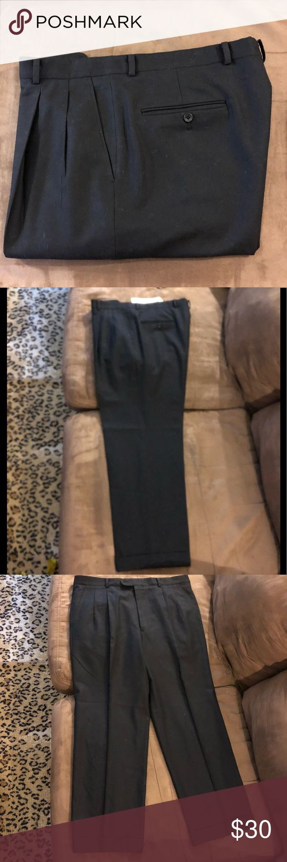 Hickey Freeman Navy Blue Dress Pants 38x30 Hickey Freeman Solid Navy Blue Milled Wool Dress Pants 38x30, Pleated and cuffed! Great condition!  Please make reasonable offers and bundle! Ask questions :) Hickey Freeman Pants Dress