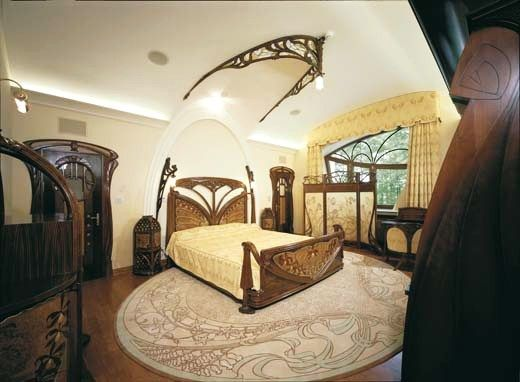 art nouveau style house villa liberty moscow russiaart nouveau style house art - Architecture Bedroom Designs