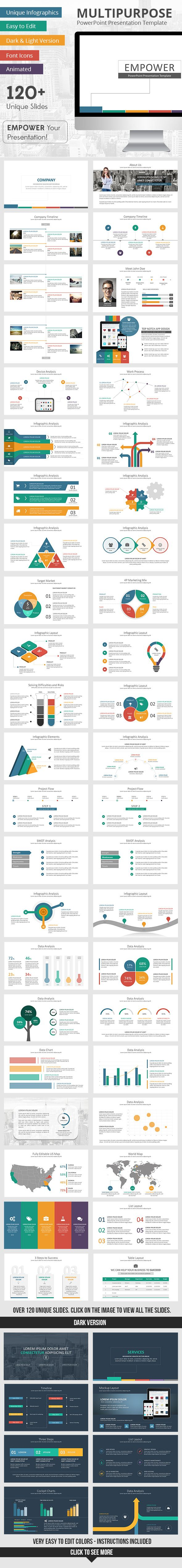 Empower PowerPoint Presentation Template PowerPoint Template / Theme / Presentation / Slides / Background / Power Point #powerpoint #template #theme