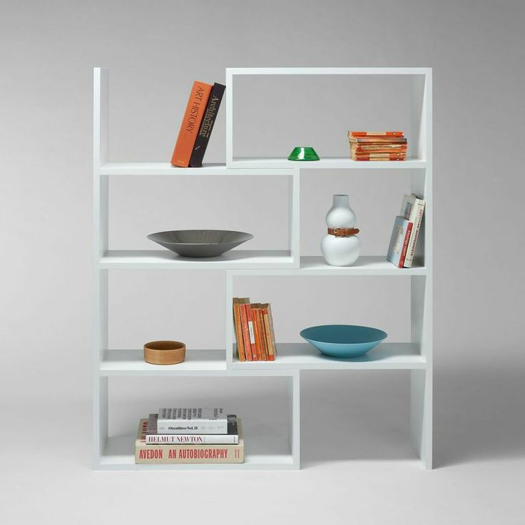 Extend shelving unit by Matz Borgström for Design House Stockholm. A bookshelf with adjustable width.