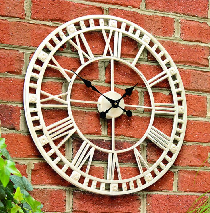 claremont indoor or outdoor roman numeral clock by garden selections | notonthehighstreet.com