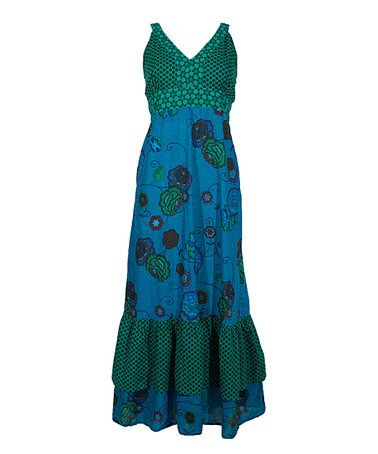 Love this Turquoise Empire-Wasit Maxi Dress on #zulily! #zulilyfinds
