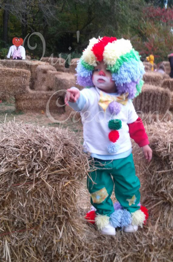Clown Costume Clown Wig Kids Costume Toddler by QuisCreations, $95.00