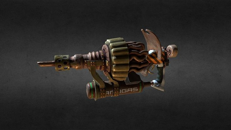 Steam Gun / unused model from Dead Cyborg game by endike
