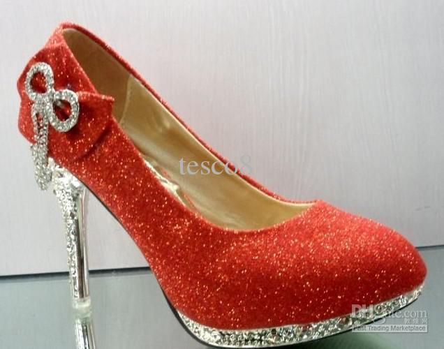 Cheap Bridal Shoes Red