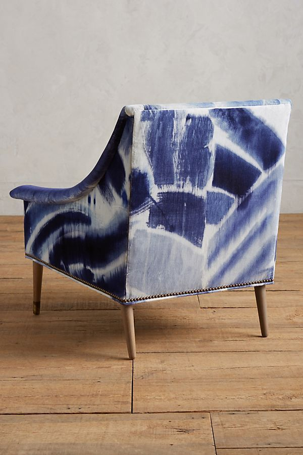 Best Shibori Printed Tillie Armchair Anthropologie Furniture 400 x 300