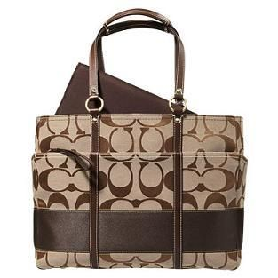 Coach diaper bag :) have this but mine has red stripe :)