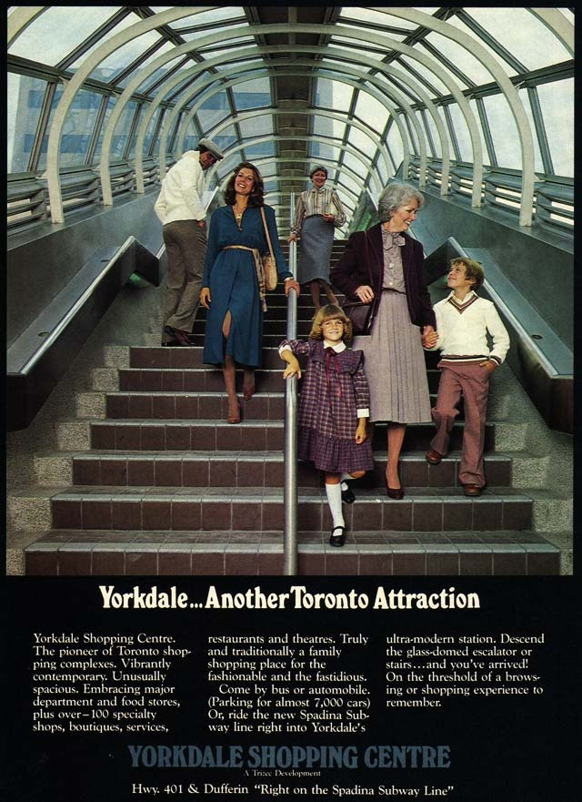 Vintage Toronto Ads: Yorkdale… Another Toronto Attraction