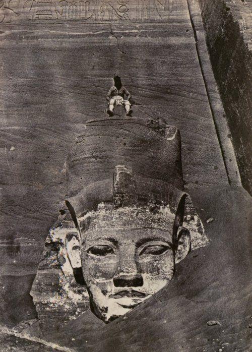Maxime Du Camp, Abu Simbel, Nubia, 1850: Temple, History, Westernmost Colossus, Abu Simbel, Art, Simbel 1850, Ancient Egypt, Maxim Du, Du Camps