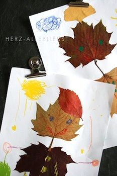 Herz-Allerliebst leaf people pictures...using this for a fall writing project practicing labeling