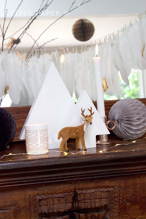 A little bit boho and a little bit scandinavian. Like this Christmas mantle look? Take a peek at Piper Paper Co.s new profile and Boho Christmas Board https://www.pinterest.com/PiperPaperCo/boho-christmas-christmas-styling-ideas-and-inspira/