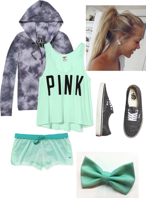 """Lets Exercise with Victoria's Secret Clothing"" by alexperisin ❤ liked on Polyvore"