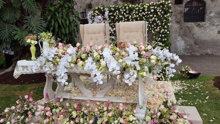 DF Mesa de novios para boda en jardin