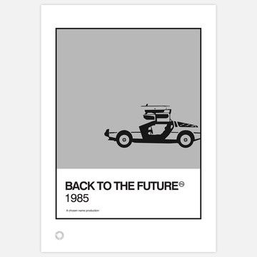 Back to the Future Personalized Print