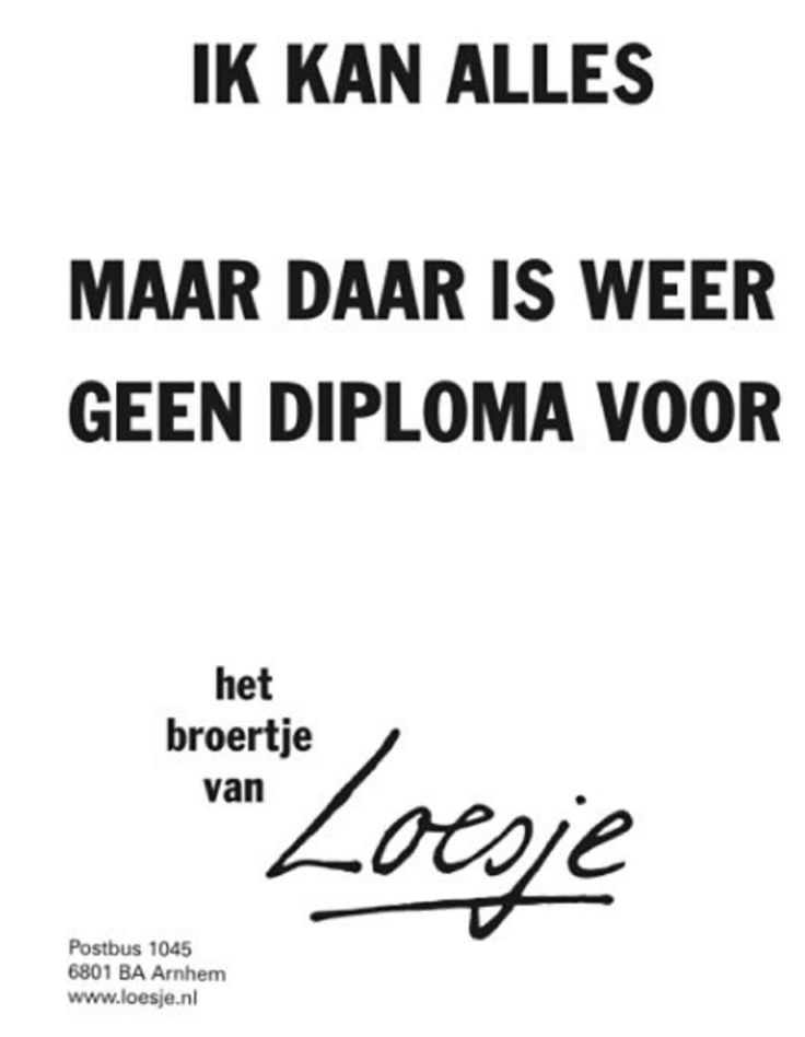 Diploma onderwijs loesje