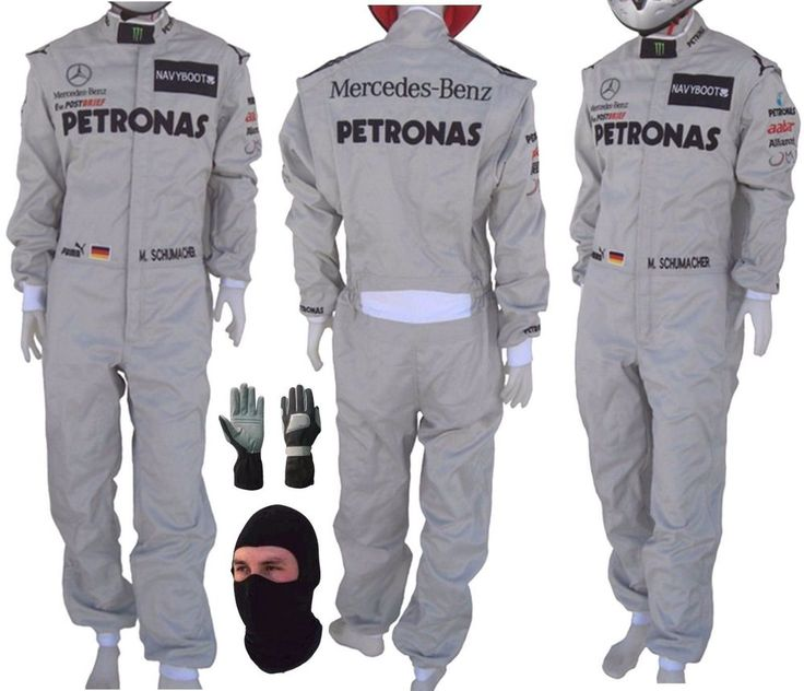 Mercedes Petronas Go Kart Race Suit CIK/FIA Level 2 gift Gloves & balaclava #Handmade