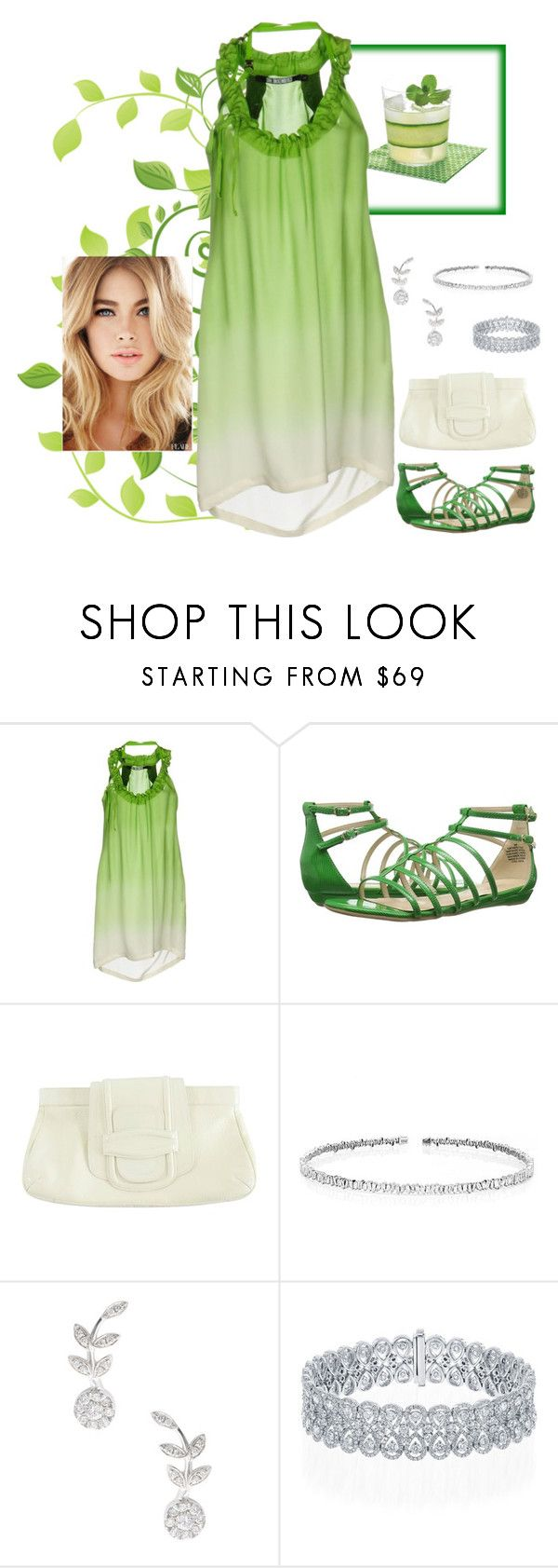 """""""Lady in Lime"""" by andrea-kaye-nowak ❤ liked on Polyvore featuring Dirk Bikkembergs, Nine West, Oscar de la Renta, Suzanne Kalan and Rina Limor"""