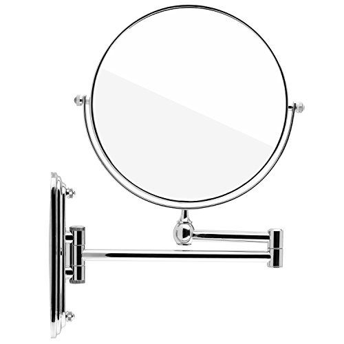 Spaire 7x Magnifying Mirror Wall Mount Makeup Mirror 8-Inch Two-Sided Swivel and  Extendable for Bathroom - http://centophobe.com/spaire-7x-magnifying-mirror-wall-mount-makeup-mirror-8-inch-two-sided-swivel-and-extendable-for-bathroom/ -