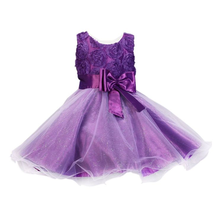 Girls Sparkly Princess Tuffle Layer 3D Rose Flower Dress w/ Bowknot for Age 3-7Y. Kids Children Formal Pageant Christening Gown Wedding/Prom/Party/Birthday Bridesmaid Flower Princess Sleeveless Dress Rose Patal Tulle Dual-layered Overalls Tutu Skirt for Girls Age 3,4,5,6,7. Sleeveless bodice; 3D effect flowers; Round neckline with rear zip. Large Bow with Long Sash on waist. Glittered dual-layered Tulle fabric with Satin Lining. Stunning dress perfect for flower girls dressing up,everyday...