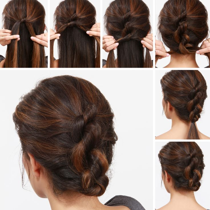 LuLu*s+How-To:+Knotty+Updo+Hair+Tutorial
