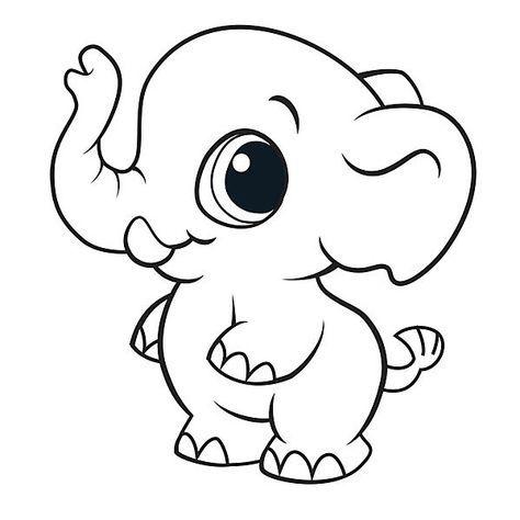 Dibujos De Elefantes Tiernos Para Colorear Drawing Ideas Animal