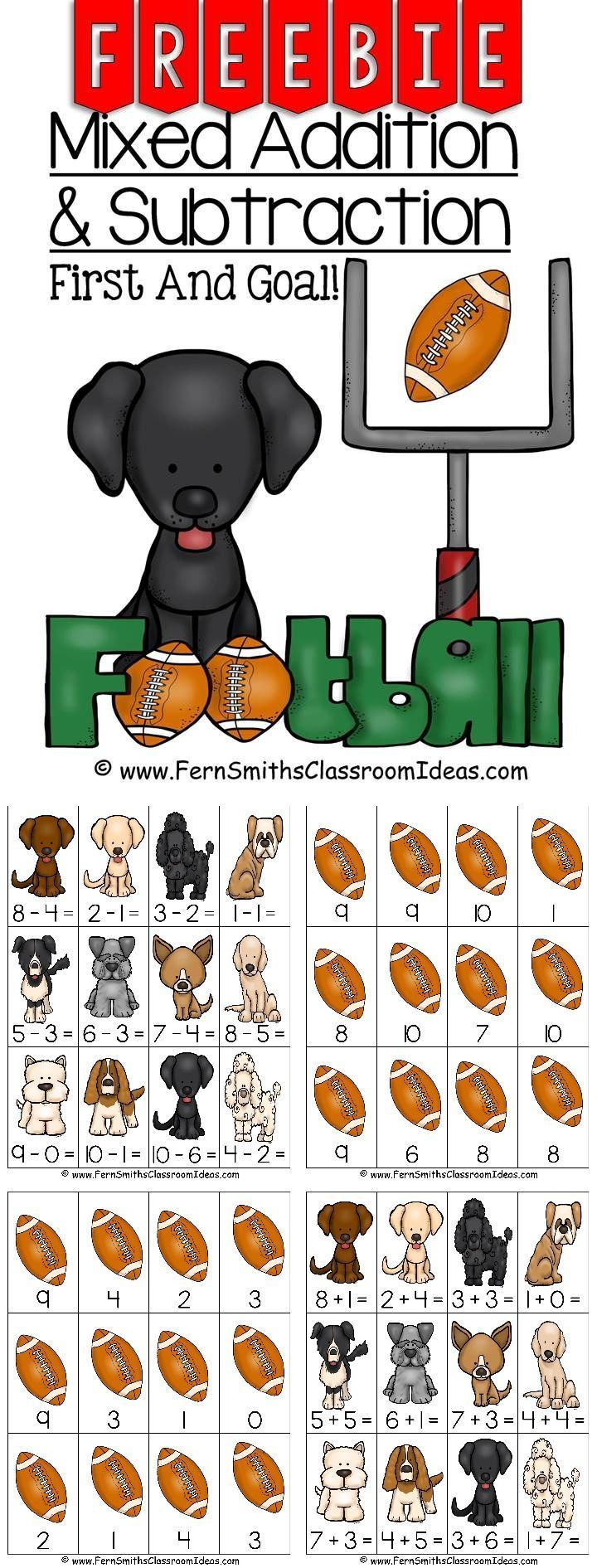 FREE - Quick and Easy to Prep Mixed Addition and Subtraction Center Game #Freebie  #TPT  #Free