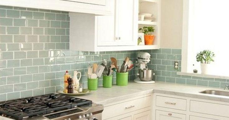 11 Sea Glass Subway Tiles Kitchen