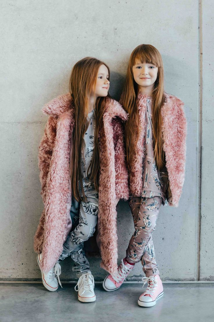 Super cute faux fur coats and printed layers sat Hebe for fall/winter 2016 previews to be shown at Playtime Paris
