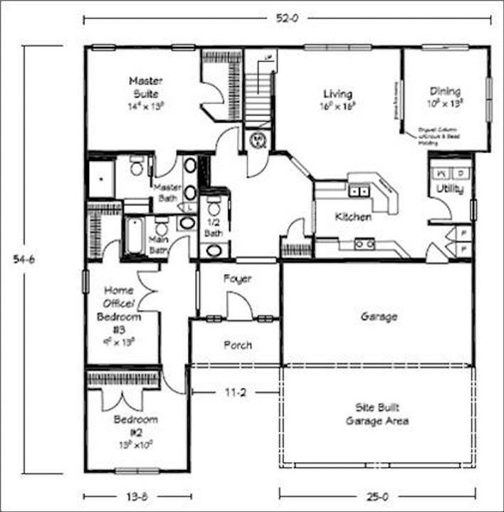 17 best ideas about bungalow floor plans on pinterest for Modular homes with basement floor plans