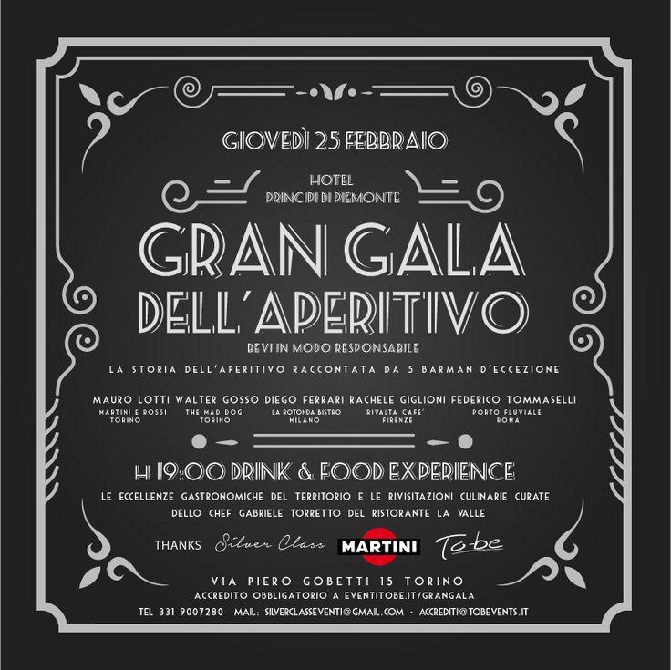 25 FEBBRAIO 2016 GRAN GALA' DELL'APERITIVO – HOTEL PRINCIPI DI PIEMONTE