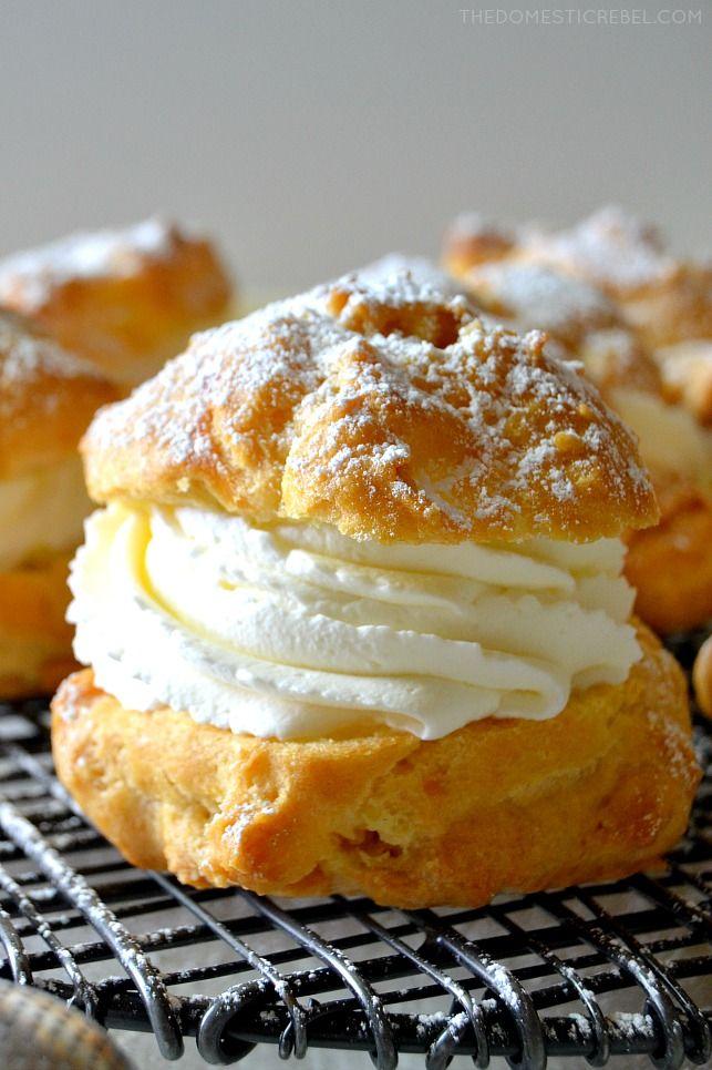 Super Simple Cream Puffs Recipe Cream Puffs Easy Cream Puff Recipe Cream Puffs