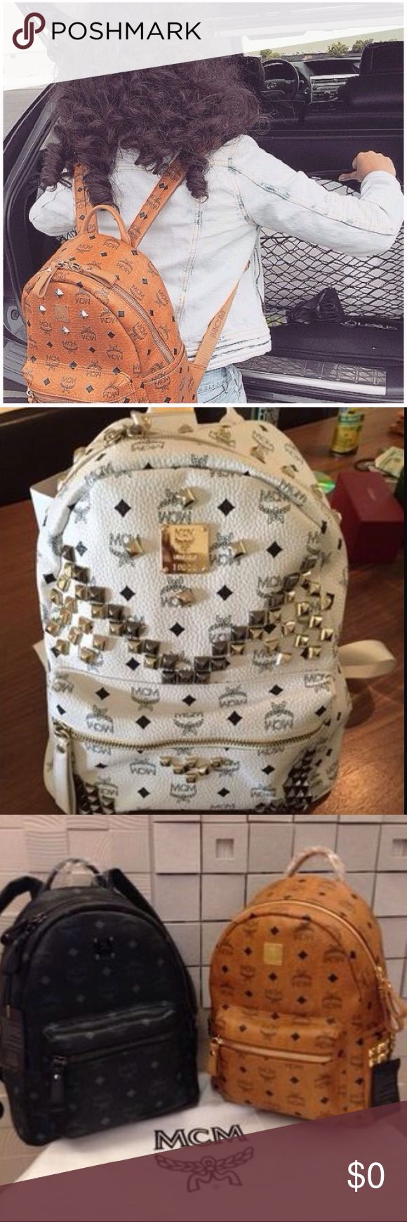 ❕🔥LOOKING FOR MCM BOOKBAGS🔥❕ (medium)🎉 ‼️Looking for meduim MCM bookbag‼️ Authentic or not but in good condition, preferibly lower than $200🙂 Bags Backpacks