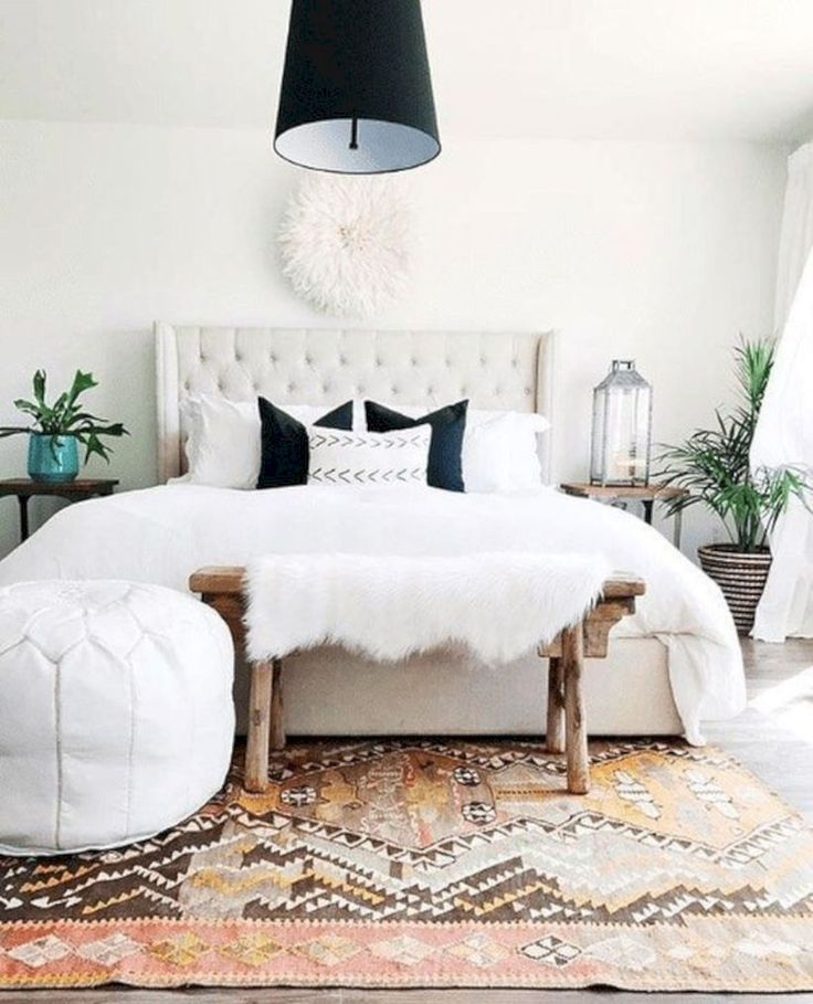 Beautiful Master Bedroom Decorating Ideas 62: 44 Beautiful Bohemian Bedroom Ideas - - #Genel