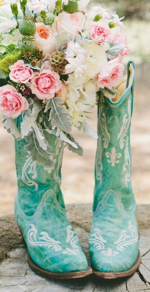 Tiffany blue cowboy boots                                                                                                                                                                                 More