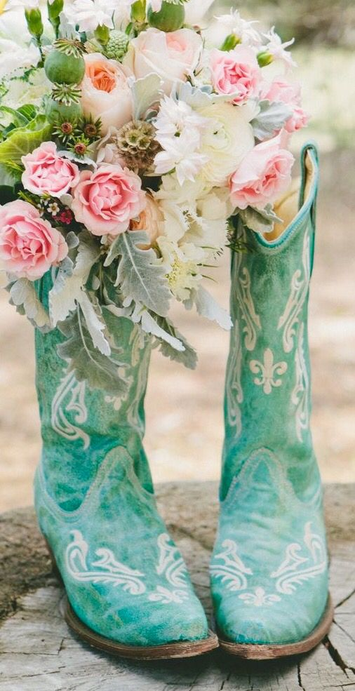 25 Best Ideas About Turquoise Cowboy Boots On Pinterest