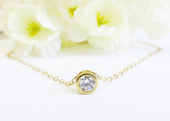 This is a sweet dainty solitaire pendant with a 14k Gold Filled chain.  The measures for this necklace are:  Solitaire: 9.7mm x 13 mm Chain: 16 inches  More length can be added upon request. Please leave me a convo or a note at the checkout for adjustments.  It comes in a beautiful gift box.  Thanks for looking.  ♥ ♥ ♥ ♥ ♥ ♥ ♥ ♥ ♥ ♥ ♥ ♥ ♥ ♥ ♥ ♥♥ ♥ ♥ ♥ ♥ Visit my shop here: http://www.etsy.com/shop/lecharmejewelry ♥ ♥ ♥ ♥ ♥ ♥ ♥ ♥ ♥ ♥ ♥ ♥ ♥ ♥ ♥ ♥ ♥ ♥ ♥ ♥ ♥