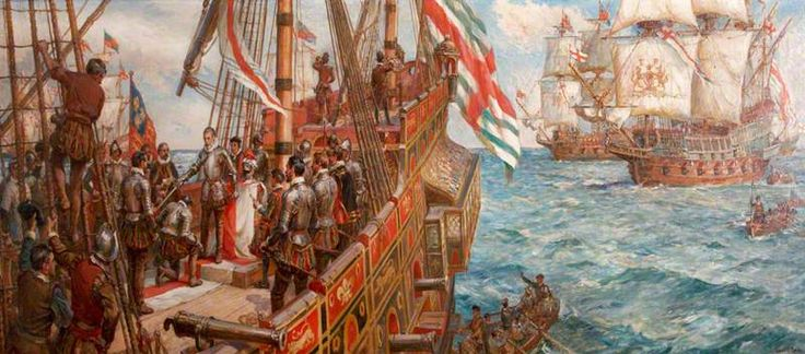 Knighting the Captains on Board the Ark Royal
